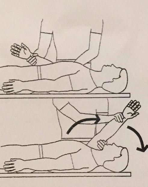 بالا بردن دست درگیر از سوی فرد دیگری:
