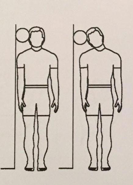 کج کردن گردن با توپ