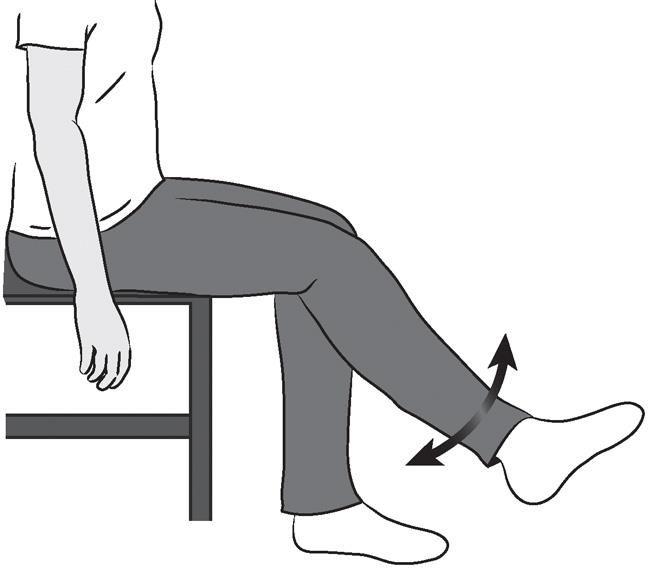 بعد از انجام این حرکت تن خود را بر روی صندلی به سمت جلو ببرید